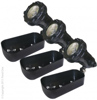 Pond One HalTec H20x3 Halogen Pond Light Set x3 Lights